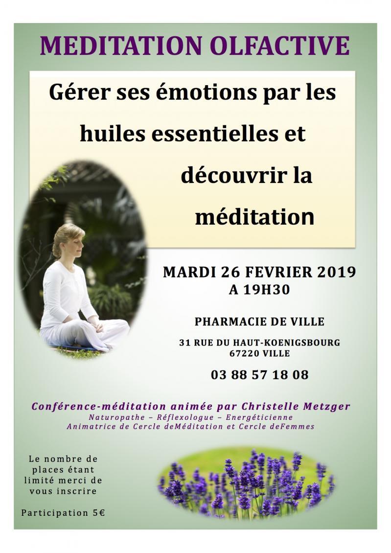 Affiche meditation olfactive pharmacie ville